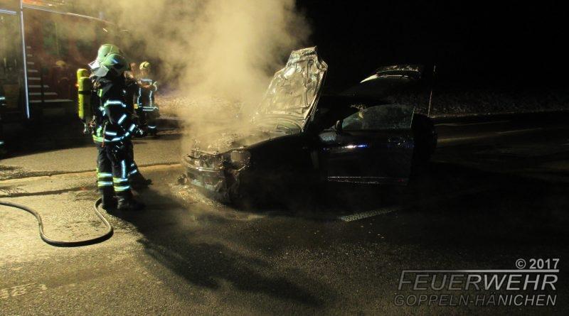 Fahrzeugbrand Auffahrt B170/A17