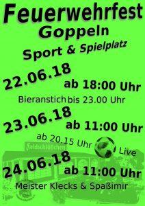 Feuerwehrfest Goppeln 2018 @ Sport und Spielplatz Goppeln