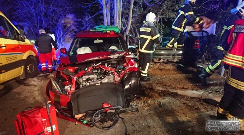 schwerer Verkehrsunfall auf B170