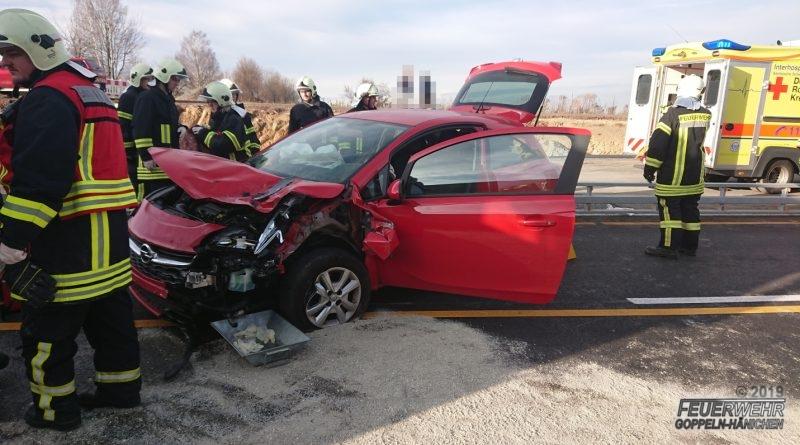Verkehrsunfall B170 in Baustelle