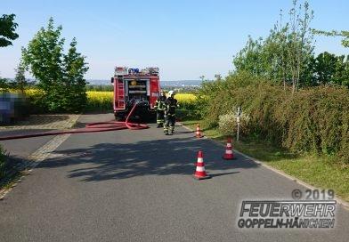 Feldbrand in Goppeln