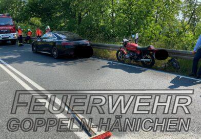 Verkehrsunfall Auto – Motorrad